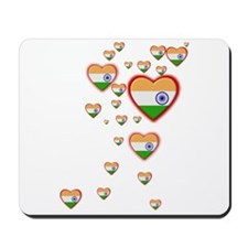 Hearts (Flag - India) - Mousepad
