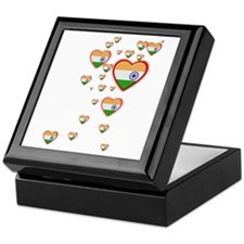 Hearts (Flag - India) - Keepsake Box