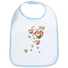 Hearts (Flag - India) - Bib