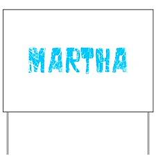Martha Faded (Blue) Yard Sign