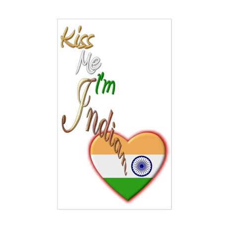 Kiss Me, I'm Indian - Rectangle Sticker