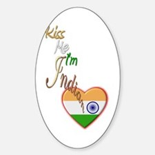 Kiss Me, I'm Indian - Oval Decal