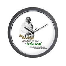 Mahatma Gandhi - Be The Change - Wall Clock