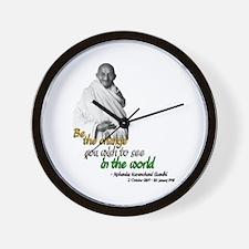 Mahatma Gandhi - Be The Change - Wall Clock