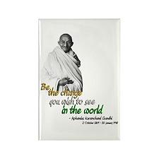 Mahatma Gandhi - Be The Change - Rectangle Magnet