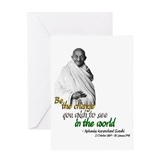 Mahatma Gandhi - Be The Change - Greeting Card