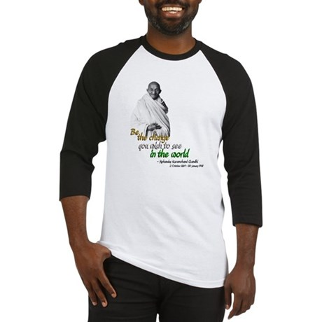 Mahatma Gandhi - Be The Change - Baseball Jersey