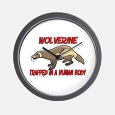 Wolverine trapped in a human body Wall Clock