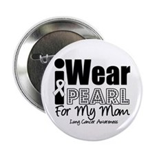 """I Wear Pearl For My Mom 2.25"""" Button (10 pack"""