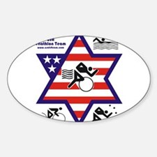 USA Triathlon Team Oval Decal