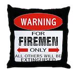 Firemen Throw Pillow