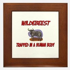 Wildebeest trapped in a human body Framed Tile