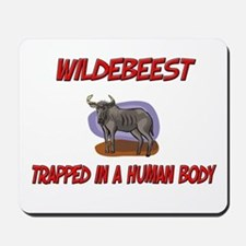 Wildebeest trapped in a human body Mousepad