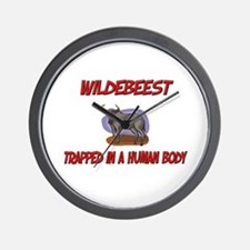 Wildebeest trapped in a human body Wall Clock