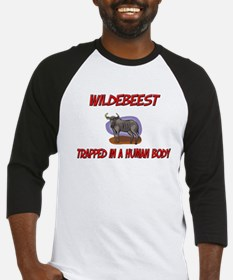 Wildebeest trapped in a human body Baseball Jersey