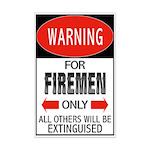 Firemen Mini Poster Print