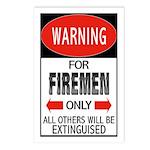 Firemen Postcards (Package of 8)