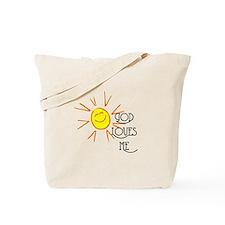 God Loves Me Tote Bag