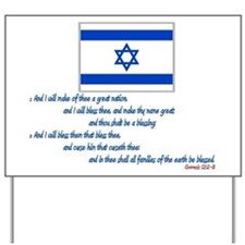 Gen 12: 2-3 Israel Flag - Yard Sign