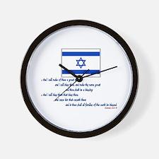 Gen 12: 2-3 Israel Flag - Wall Clock