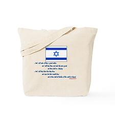 Gen 12: 2-3 Israel Flag - Tote Bag