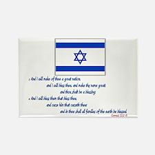 Gen 12: 2-3 Israel Flag - Rectangle Magnet