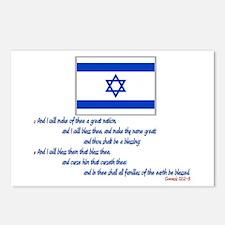 Gen 12: 2-3 Israel Flag - Postcards (Package of 8)