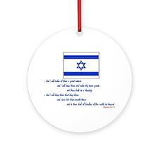 Gen 12: 2-3 Israel Flag - Ornament (Round)