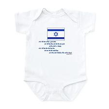 Gen 12: 2-3 Israel Flag - Infant Bodysuit