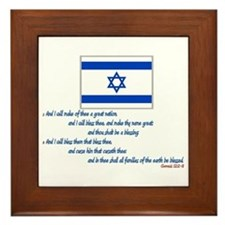Gen 12: 2-3 Israel Flag - Framed Tile