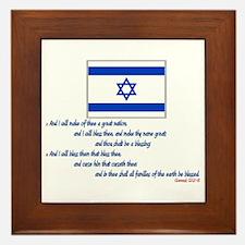 Gen 12: 2-3 Israel Flag - Framed Tile