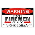 Firemen Rectangle Sticker