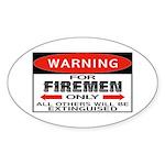Firemen Oval Sticker