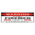 Firemen Bumper Sticker