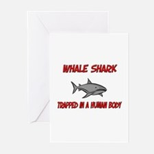 Whale Shark trapped in a human body Greeting Cards