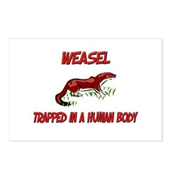 Weasel trapped in a human body Postcards (Package