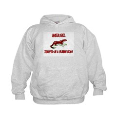 Weasel trapped in a human body Kids Hoodie