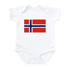 Norway Flag Infant Bodysuit