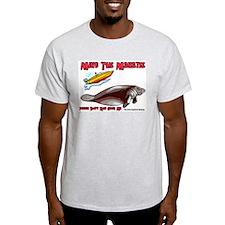 Mind the Manatee Don't Run Ov Ash Grey T-Shirt