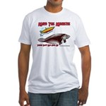 Mind the Manatee Don't Run Ov Fitted T-Shirt