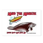 Mind the Manatee Don't Run Ov Postcards (Package o