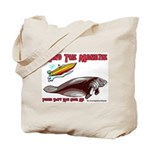 Mind the Manatee Don't Run Ov Tote Bag