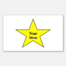 Stage Mom Rectangle Decal
