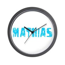 Mathias Faded (Blue) Wall Clock