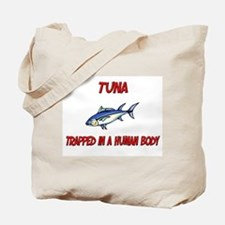 Tuna trapped in a human body Tote Bag