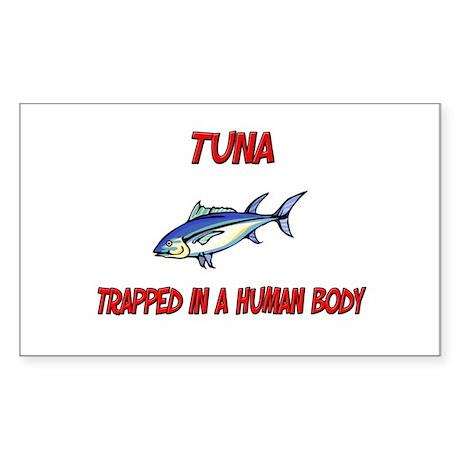 Tuna trapped in a human body Rectangle Sticker