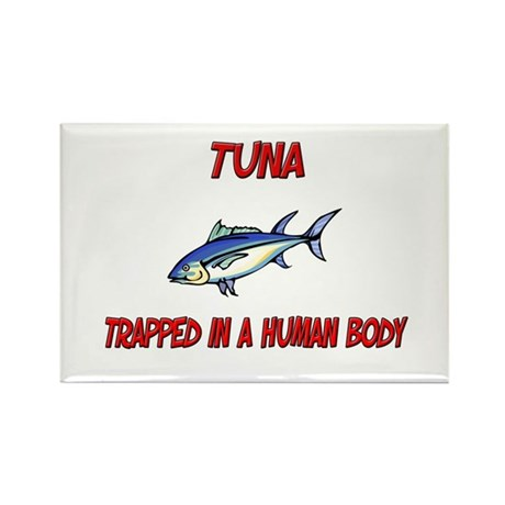 Tuna trapped in a human body Rectangle Magnet (10