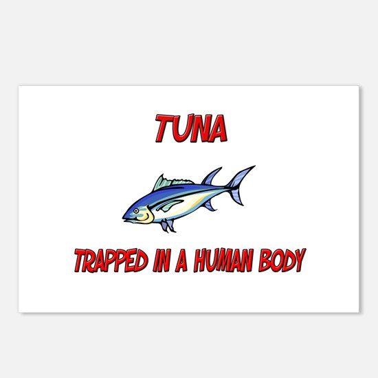 Tuna trapped in a human body Postcards (Package of