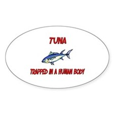 Tuna trapped in a human body Oval Decal