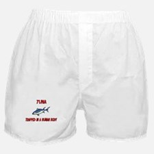 Tuna trapped in a human body Boxer Shorts
